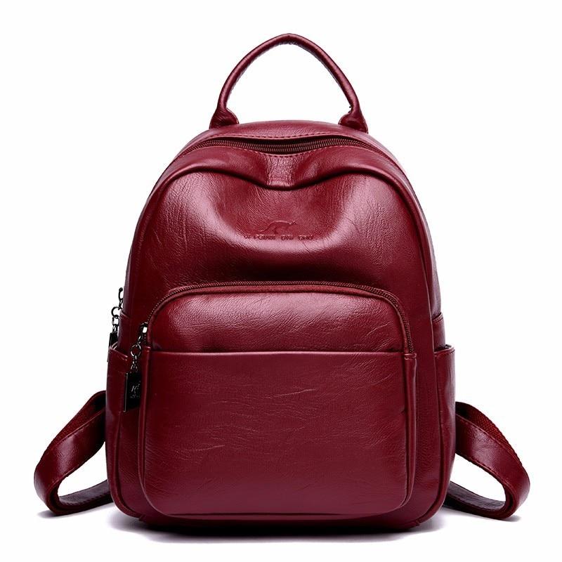 2019 Women Backpacks Luxury Designer Mochila Feminina Rucksacks For Girls Ladies Bagpack Preppy Style Solid Female Backpack New