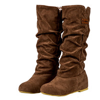High Quality Women Girls Boots Winter Mild Warm Boots Casual Flock Knee High Boots