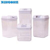 Bingone 4 em 1 Conjunto Forma Quadrada Empurrar Para Cima Recipiente Cozinha Alimentos ferramenta titular Queque Recipientes Bolo Pops BPA Livre Caixa Vazia-FT