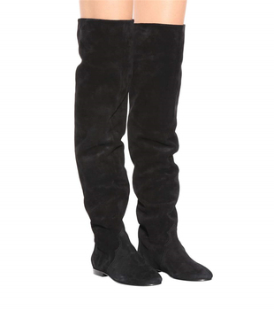 Sapato feminino thigh high stretch boots black ladies shoes boots leather stockings over the knee shoes woman 2019