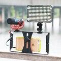 Smartphone caso filme rig vídeo estabilizador handle vídeos flim para iphone 7/7 s para huawei htc todos os smartphones