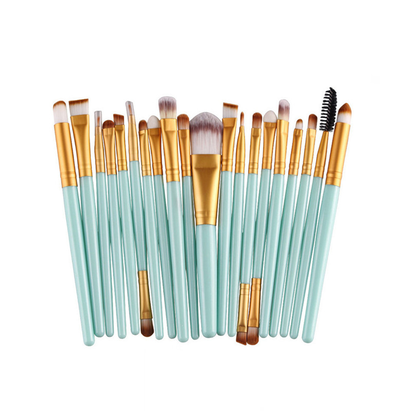 20pcs Eye Makeup Brushes Set Eyeshadow Blending Brush Powder Foundation Eyeshadading Eyebrow Lip Eyeliner Brush Cosmetic Tool 1 4pcs cosmetic makeup brushes set eyebrow eyeliner eyelashes lip makeup brush kits eyeshadow blush brushes pinceis de maquiagem