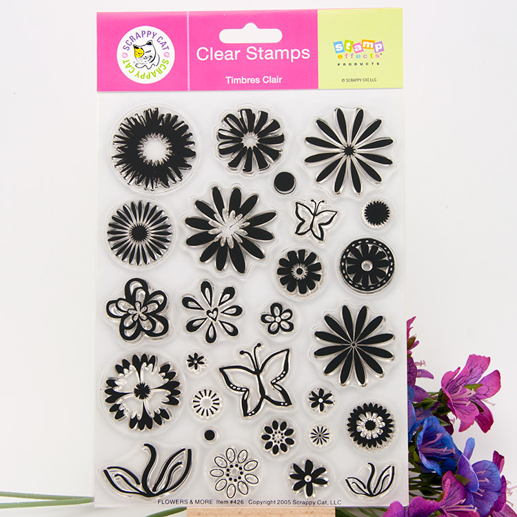 Clear Stamp Scrapbook DIY photo cards rubber stamps seal happy transparent silicone flower pattern handwork art gift wyf1017 scrapbook diy photo album cards transparent silicone rubber clear stamp 11x16cm camera