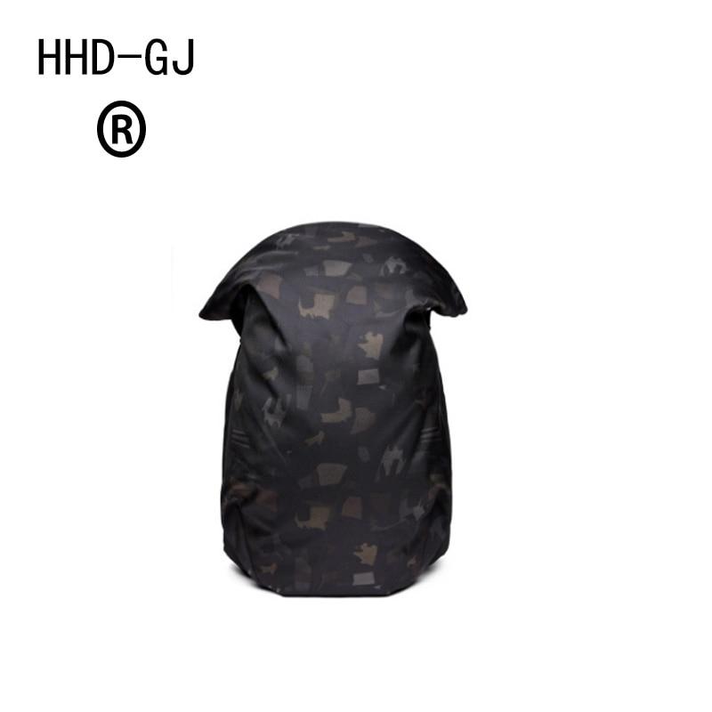 HHD-GJ USB Design Backpack Men Minimalist Camouflage Laptop Backpack Unisex Women Travel Bags School bag
