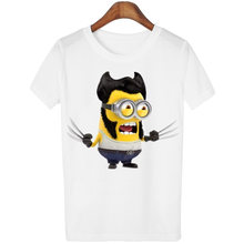 Hot camisetas mujer Punk T shirt Women Harajuku Kwaii T-shirt Blusa tumblr Minions Tops WMT76(China)