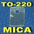 ( 50 pçs/lote ) TO-220 Transistor Mica isolante, Folha de isolamento