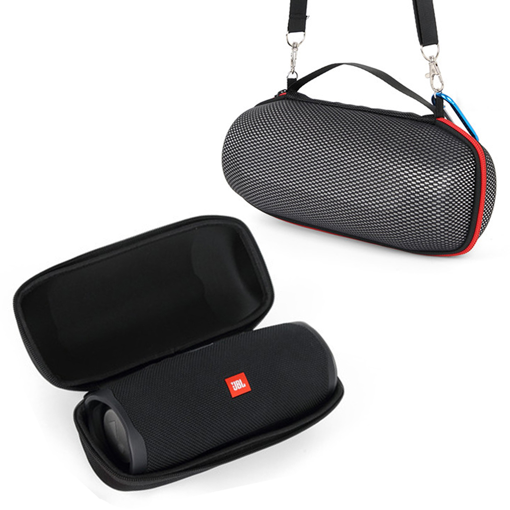 2019 Newest EVA Hard Carrying Travel Case For JBL Charge 4 Charge4 Waterproof Wireless Bluetooth Speaker (Black+Grid) Only Case