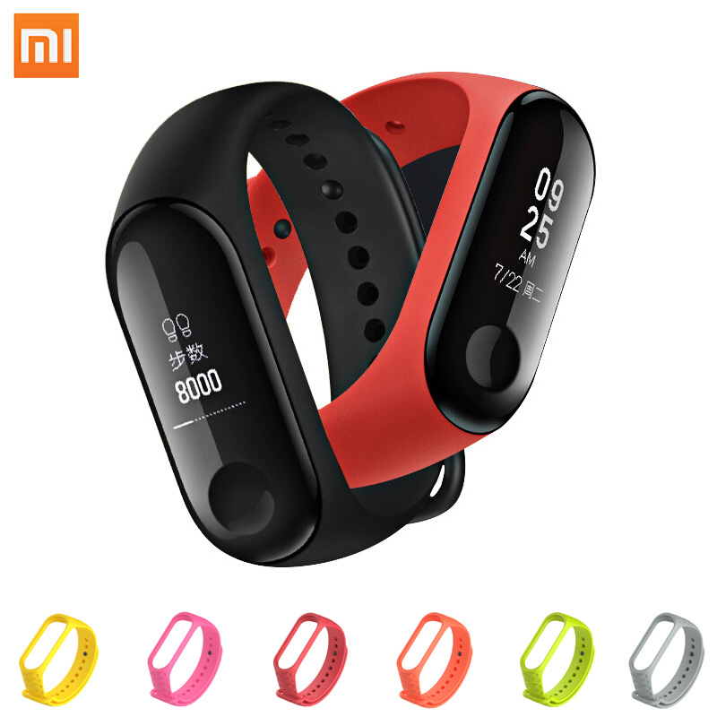 Xiaomi Mi Band 3 0.78 Inch OLED miband 3 Heart Rate Tracker Instant Message 50M Waterproof Caller ID Vibration Clock In Stock in stock original xiaomi mi band 3 0 78 inch oled instant message caller id weather forecate vibration clock mi band 2 upgrad
