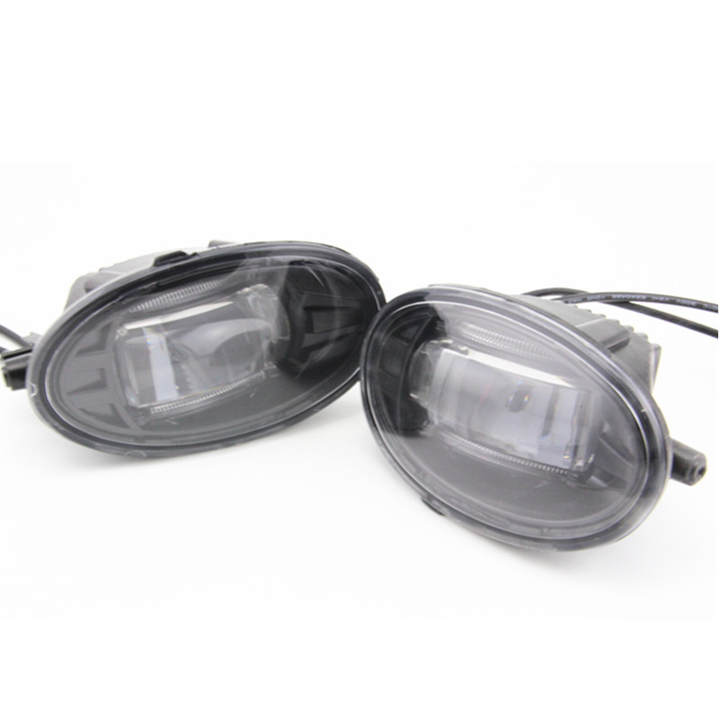 ФОТО Hot sale! Led fog lamp for  Jazz Fit 2009 2010 2011 2012 Daytime Running Light accessories car styling Fog lamps assembly