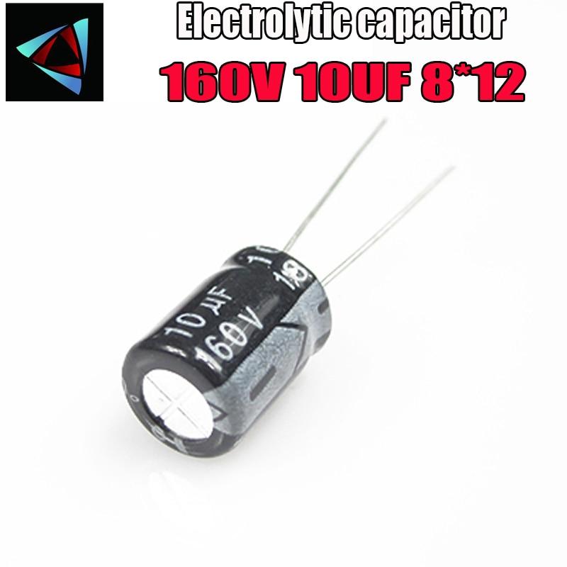 12PCS Higt Quality 160V 10UF 8*12mm 10UF 160V 8*12 Electrolytic Capacitor
