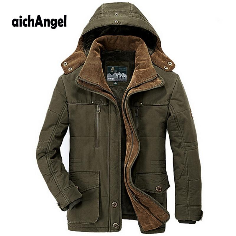 Новый минус 40 градусов зимняя куртка Мужская Утепленная теплая хлопковая стеганая куртка мужская ветровка с капюшоном парка плюс размер ку...