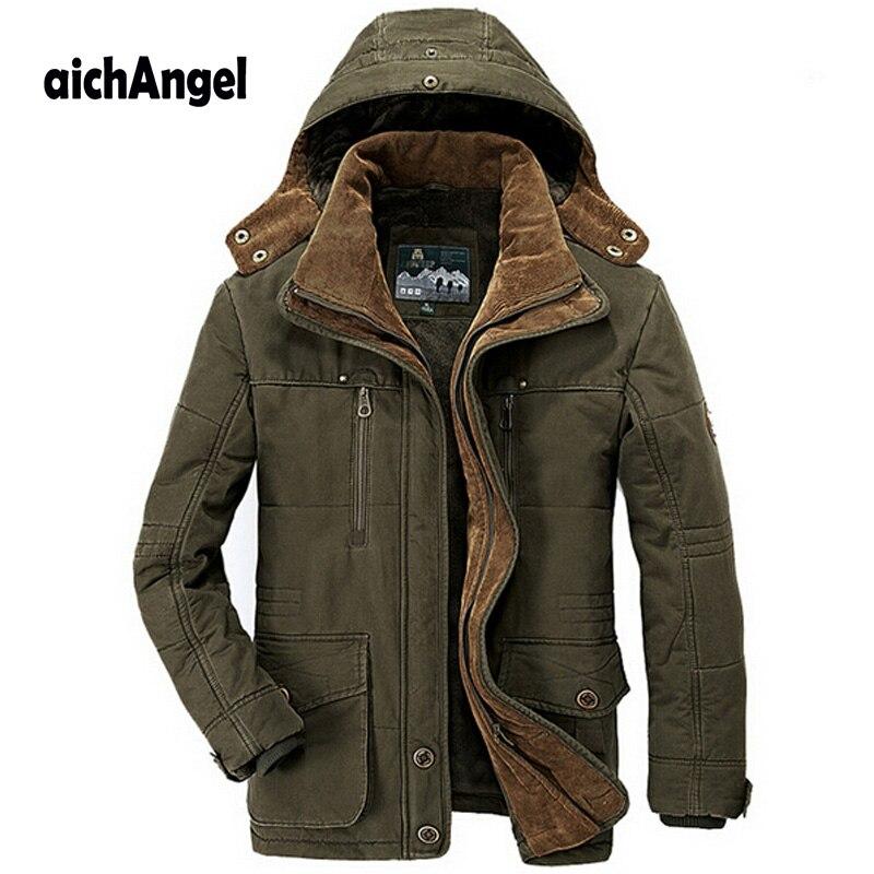Новинка, зимняя мужская куртка, минус 40 градусов, утолщенная, теплая, с хлопковой подкладкой, Мужская ветровка с капюшоном, парка, плюс размер, мужская куртка