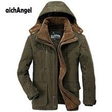 Blouson dhiver à capuche pour homme, épais et chaud, à 40 degrés, Parka coupe vent, coupe vent, grande taille