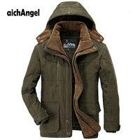 New Minus 40 Degrees Winter Jacket Men Thicken Warm Cotton Padded Jackets Men's Hooded Windbreaker Parka Plus Size Jacket Men