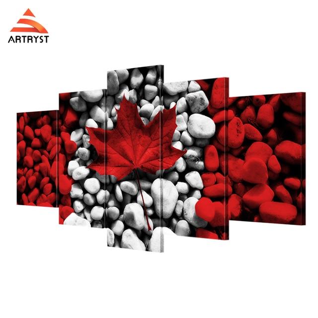 Artryst HD Print bandera canadiense arte pinturas y carteles 5 lona ...