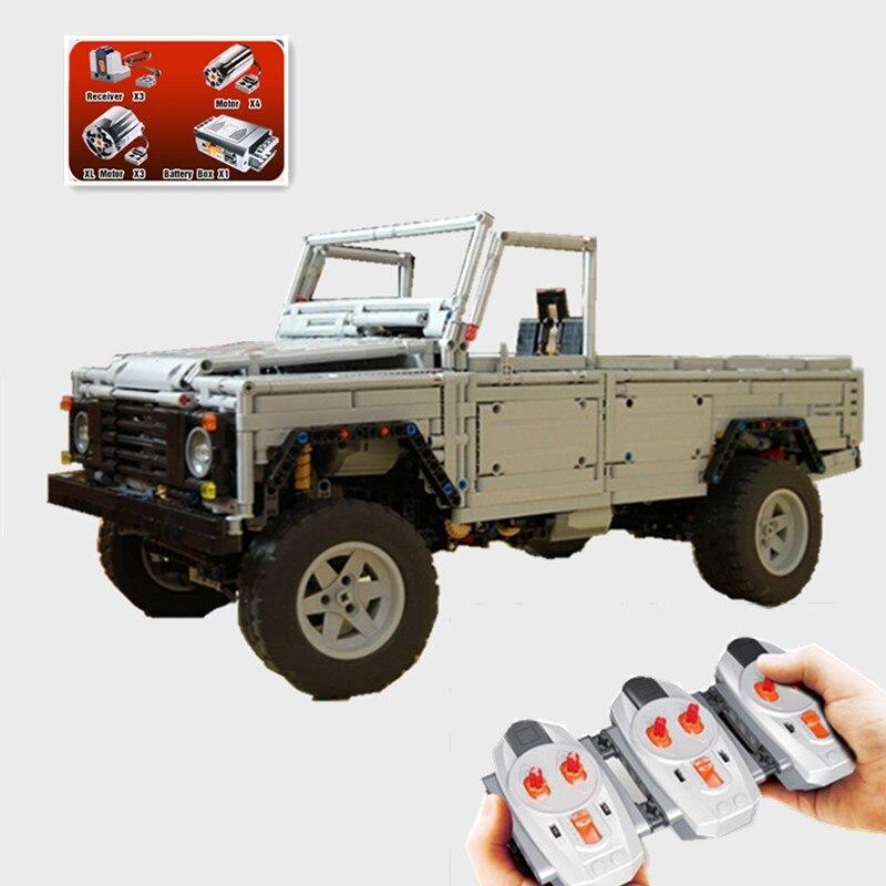 New Technic series MOC Remote Control Wild off road vehicles model fit technic truck Model Building