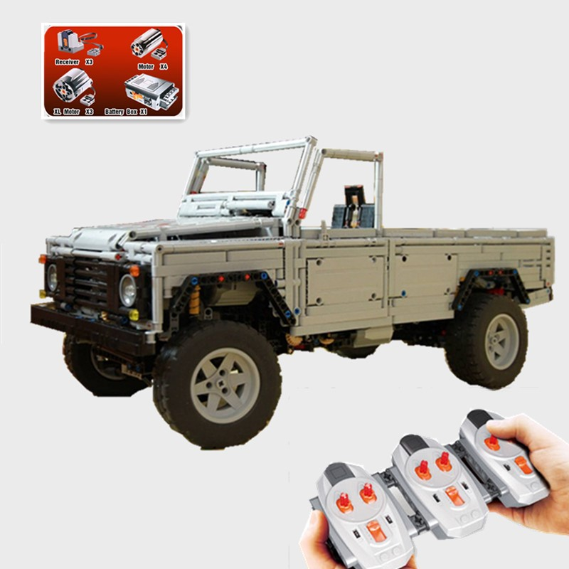 New Technic series MOC Remote-Control Wild off-road vehicles model fit technic truck Model Building Blocks Bricks Toy image