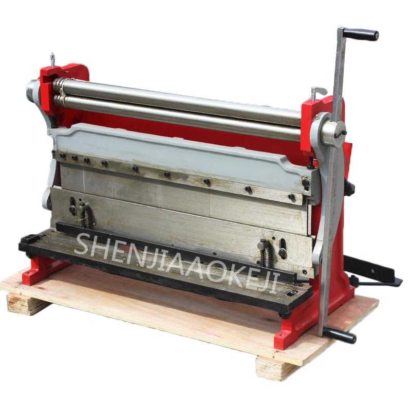 Bending machine 610mm Manual shearing board machine HSBR-610 Rolling machine three in one copper iron aluminum plate machine 1pc new manual sheet metal iron aluminum copper plate bending machine