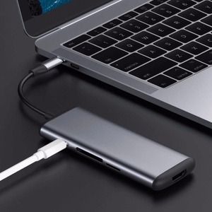 Image 4 - Многофункциональный конвертер Youpin hagiss Type C, двойной USB 3,0 адаптер для передачи данных для HDMI, SD/TF, Macbook, Samsung