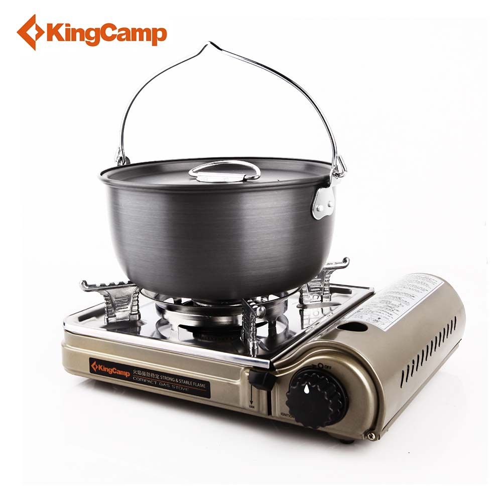цена на KingCamp Portable Outdoor Gas Stove for Hiking Trekking Camping Hiking Picnic Gas Stoves Camping Equipment Free Shipping