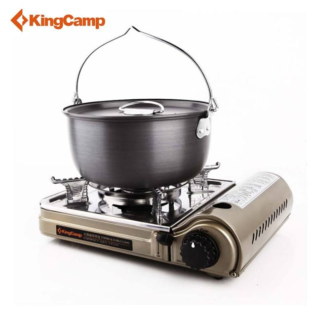 Style Of KingCamp Portable Outdoor Gas Stove for Hiking Trekking Camping Hiking Picnic Gas Stoves Camping Equipment Free Amazing - Best of outdoor stove Fresh
