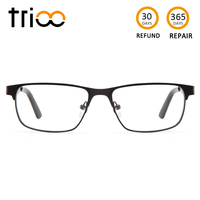 f11f0a5db7 TRIOO Matte Prescription Glasses Men Myopia Eyeglasses Transparent Thin  Square Metal Eyewear Clear Reading Computer Spectacles