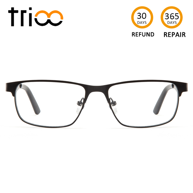 bbf9367372 TRIOO Matte Prescription Glasses Men Myopia Eyeglasses Transparent Thin  Square Metal Eyewear Clear Reading Computer Spectacles