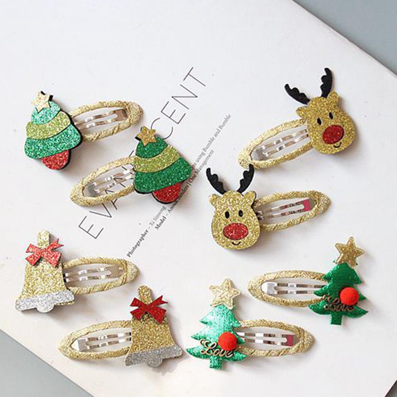 Girls Cute Christmas Hairpins Hair Clip Cartoon Headwear Charm Jewelry Gift Hair Accessories