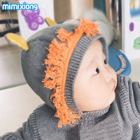 Adorable Lion Ear Baby Bunny Beanie Cap Autumn Winter Warm Toddler Boys Girls Hat Super Soft