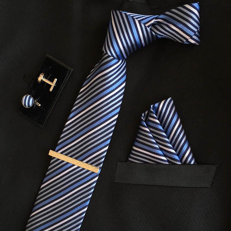 SHENNAIWEI manar 8cm mode märke lyxiga slipsar fyrkantiga bröllop - Kläder tillbehör - Foto 6