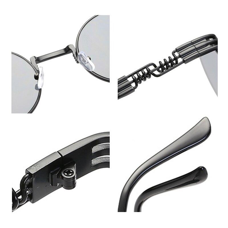 Gothic Steampunk Sunglasses Wanita Pria Logam Bungkus Kacamata - Aksesori pakaian - Foto 6
