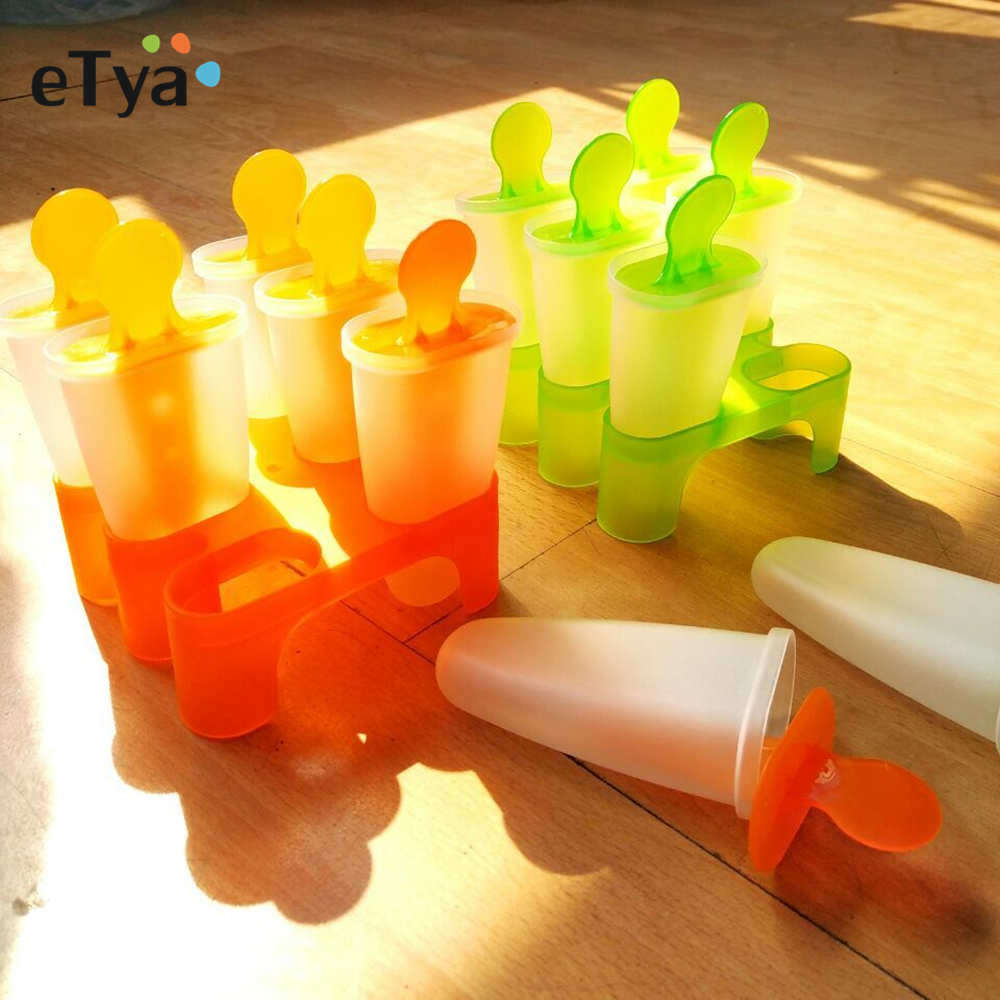 Summer Hot Sales DIY Frozen Ice Cream Pop Mold Popsicle Maker Lolly Mould Tray Pan Can Kitchen tools 4 6 8 cells Drop shipping