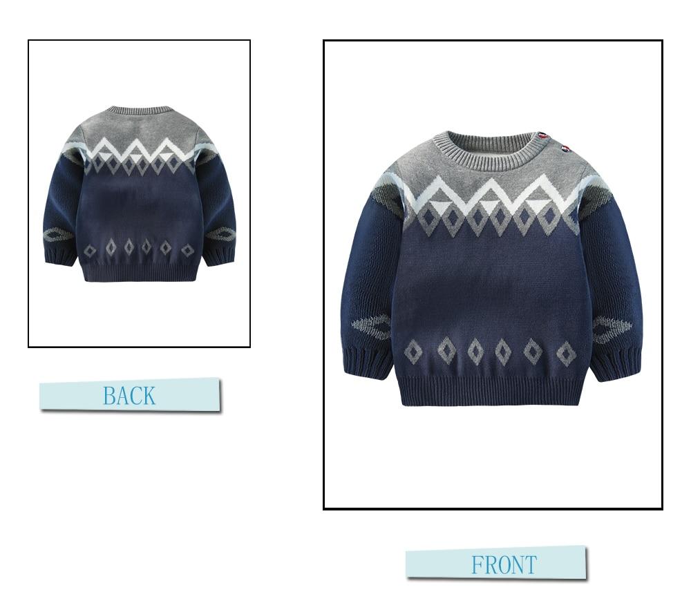 Nueva Boy Suéteres patrón de algodón suéter caliente para Niños ...
