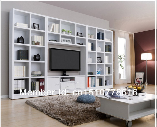 Combination Bookcase Tv Cabinet Brief Bookshelf Wine Cooler Closet