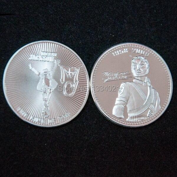 Us 145 1 Unze 999 Silber überzogene Michael Jackson Münze Uns Michael Jackson Münze 5 Teilelos Kostenloser Versand In 1 Unze 999 Silber