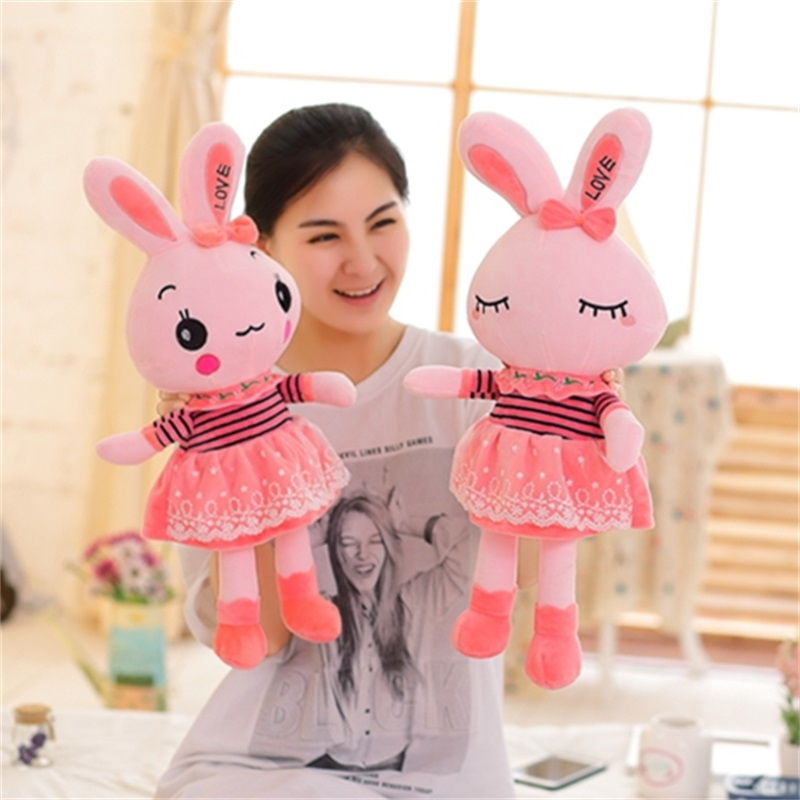 Yarn skirt rabbit plush toys for children kids toy accompany baby toys valentine day gifts 60cm 60cm new queen couple rabbit plush toy of peter rabbit doll wearing glasses rabbit doll valentine s day gift