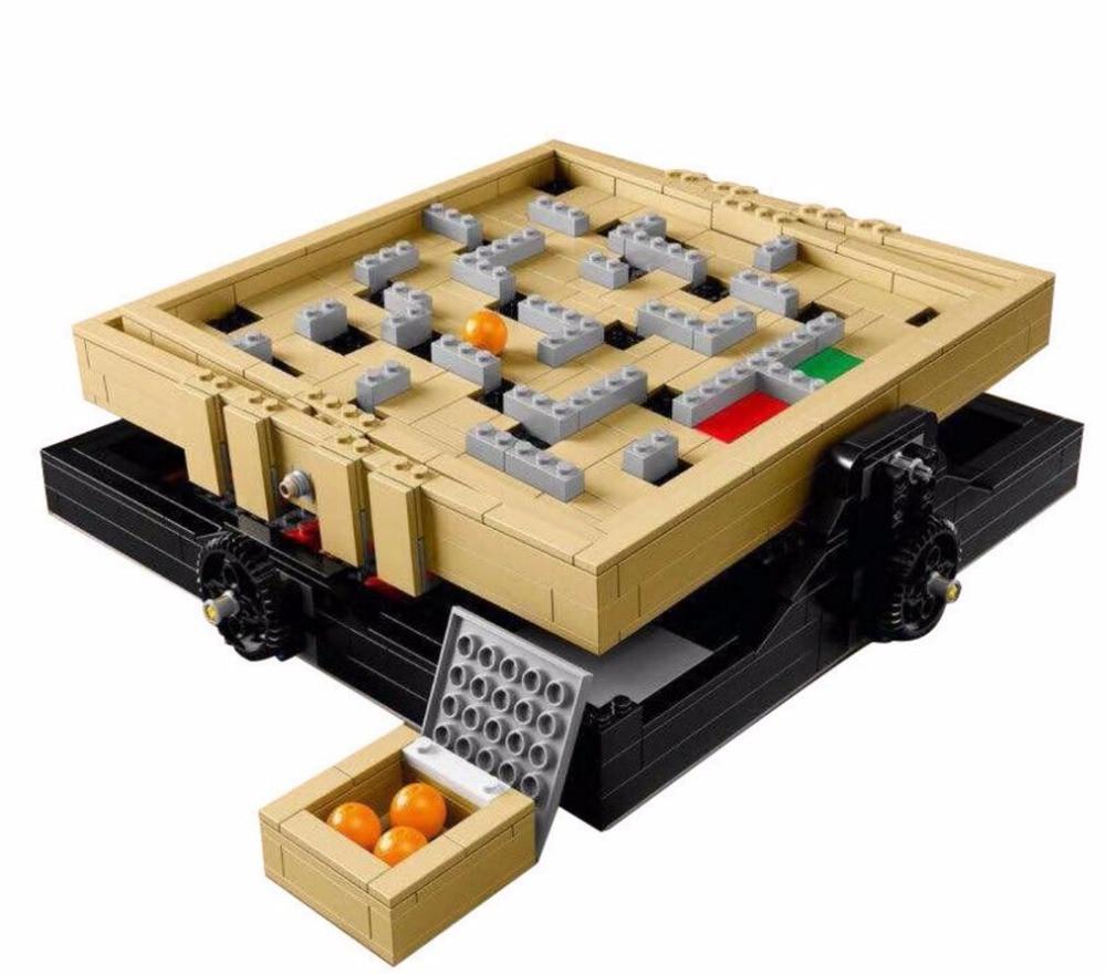 LELE 39000  769Pcs IDEAS Series The Creative Marbles Maze Model Building Blocks Bricks Toys Compatible With  21305 16023 model 16024 534pcs the big bang set building blocks figure bricks toys for children compatible legoe ideas series 21302