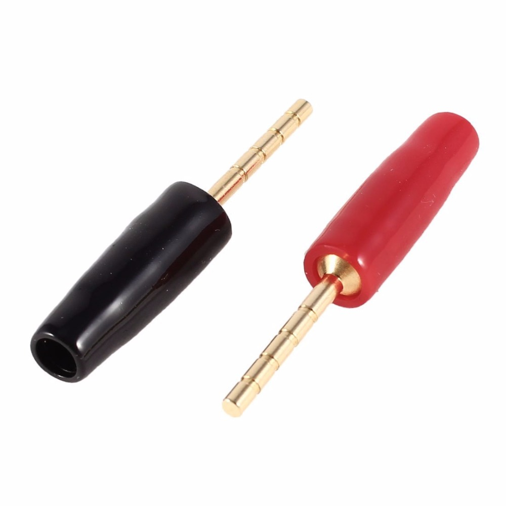Aliexpress.com : Buy 4pcs Gold Plated Speaker Wire Cable Pin ...
