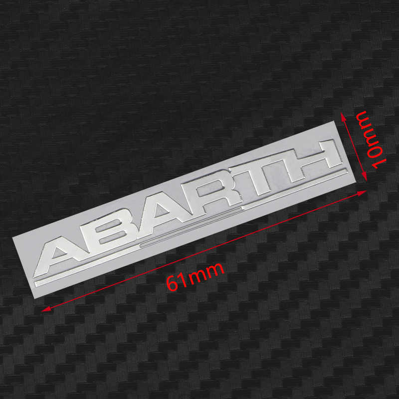 Car Styling 2Pcs Metal Abarth emblem ALUMINIUM window Stickers for Fiat Viaggio Abarth Punto 124 125 500 Laptop phone Decals