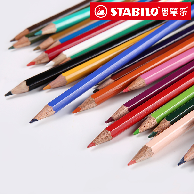 Germany STABILO coloring pencils 12/24/30 colors student drawing oil colored pencil set children graffiti DIY painting supplies 12 18 24 30 colors set germany stabilo 280 washable drawing painting pen colored markerpen highlighter pen students art painting