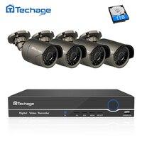 Techage 8CH 4CH 1080P HDMI NVR Kit POE Surveillance System 2MP Outdoor CCTV IP Camera IP66 Waterproof P2P Video Security Set