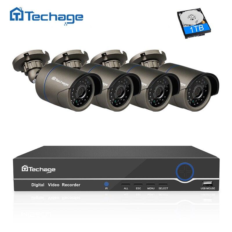 Techage 8CH 4CH 1080P HDMI NVR комплект видеонаблюдение POE Системы ИК Открытый 2MP CCTV IP Камера P2P Главная безопасности CCTV Системы комплект