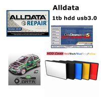 2019 Hot Alldata 10.53 all data auto repair software alldata mitchell on demand 2015+ElsaWin+Vivid workshop data 1tb hdd usb3.0