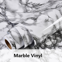 48x16ft Black Marble Look Contact Paper Gloss Film Vinyl Self Adhesive Backing Granite Stick Wall Decal 1.22x5m