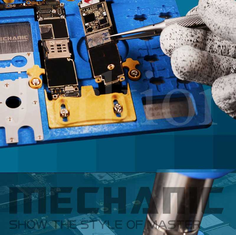 Simlug Double Bearing Computer Mainboard Holder High Temperature Resistant Repair Fixture for A6//A7//A8//A9 CPU