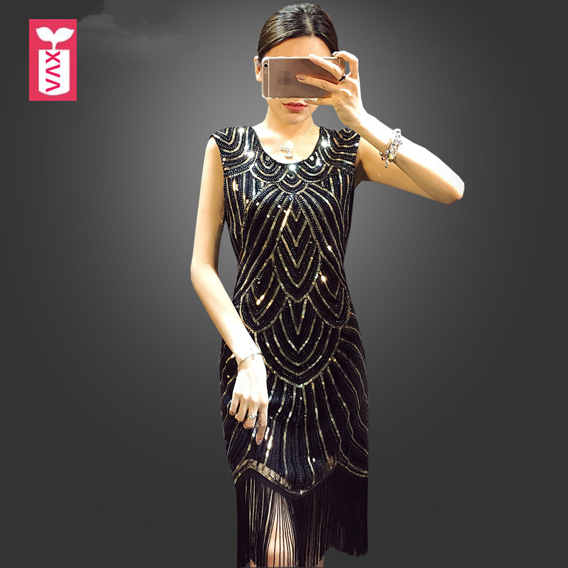 51fe7f75f97e High-end Custom-made 2018 Banquet Party Beaded Pearl Sequins Tassels Formal  Dress Womens
