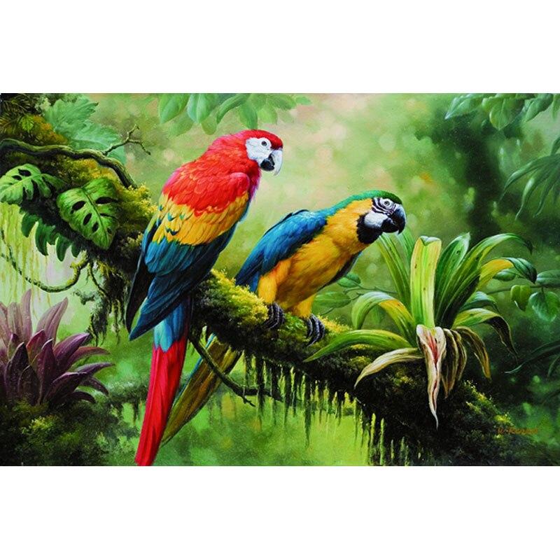 Papagei Paare Öl Bilder Malerei Auf Leinwand Wand Billig Moderne ...