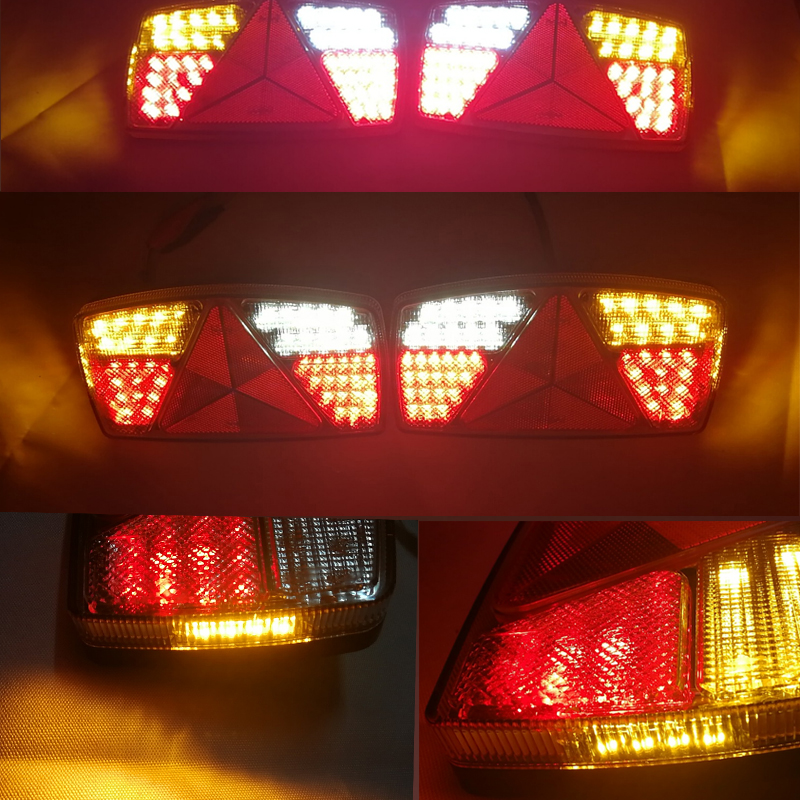 Image 5 - 1 pair AOHEWEI 10 30V LED trailer light Indicator/Stop/Reverse/FogTail lamp with reflector position led light  side marker light-in Truck Light System from Automobiles & Motorcycles