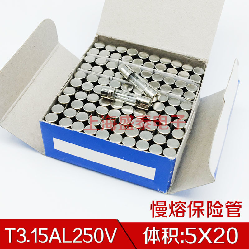 T3.15AL250V Slow Melt Fuse Tube 5X20 T3.15A250V T3.15A 250V 1 Box 100 PCS