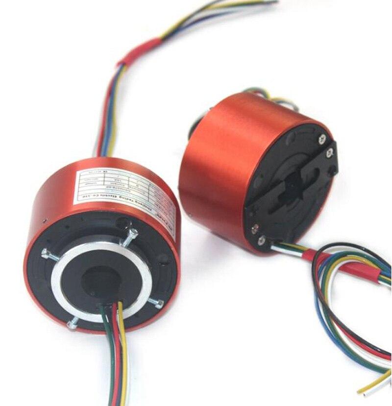 Diámetro de salida 78mm 25mm agujero pasante anillos de deslizamiento de agujero conductivo Industrial 2/4/6/12CH circuitos 5/10 A/20 a generador de deslizamiento conductivo-in Partes y accesorios from Juguetes y pasatiempos    1